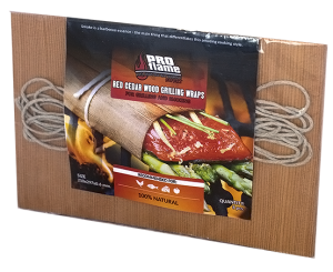 Red cedar wood grilling wraps