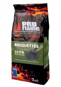 PROflame EXPERT 2kg 100% ąžuolo medienos briketai-1